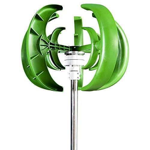 GHKLGTY Turbinas De Viento Arranque De Baja Velocidad del Viento con Controlador, Kit De Motor De Eje Vertical, Molino De Viento De Energía Híbrida Doméstica 12V 24V,Verde,12V