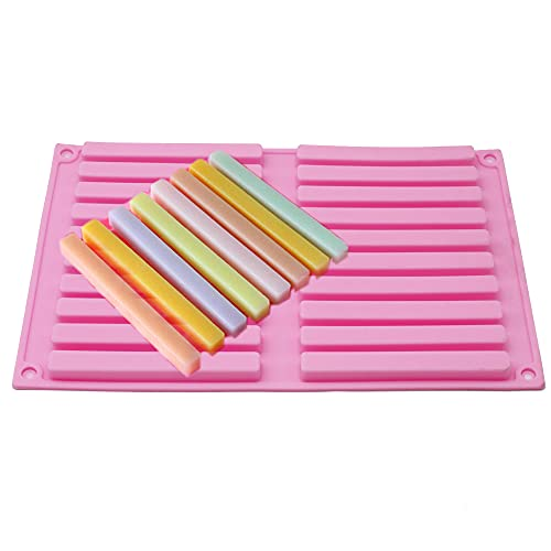 X-Haibei 20 Bars 10cm Length Strips Biscuit Chocolate Sticks Cookies Baking Jelly Silicone Mold