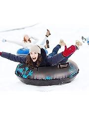 Roeam Snö tube, PVC-släde tjockt kylskydd uppblåsbara skidslitsar bärbara högpresterande slädrör med diameter 100 cm