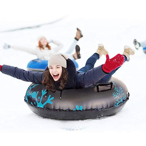 Roeam Snow Tube, PVC Schlitten Verdicken Kälteschutz Aufblasbare Skischlitten Tragbare Hochleistungs Schlittenröhre mit 47 Zoll Durchmesser