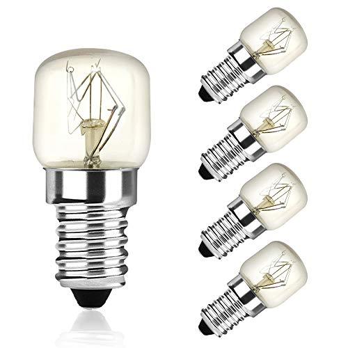 DoRight 25W E14 Backofenlampe T22 Glühbirnen, Warmweiß 2400-2600K Bis 300°C Hitzebeständiges, AC 220-240V Kleine Edison Screw Base für Mikrowelle/Ofen/Salzlampe, 5 Stück