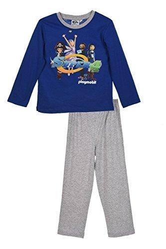 PLAYMOBIL - Pijama dos piezas - para niño Azul azul