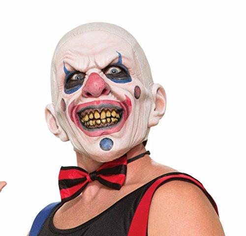 Forum Novelties Männer Verdreht Clown Latex Maske, Multi, One Size