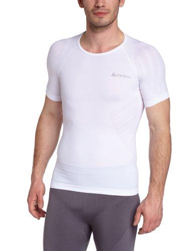 Odlo Evolution Light T-Shirt lger col rond manches courtes sans couture homme Blanc Taille Fabricant : S