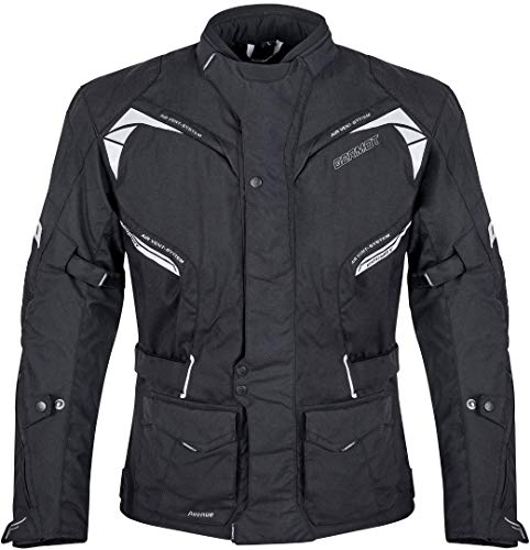 Germot Avenue Motorrad Textiljacke Schwarz 9XL