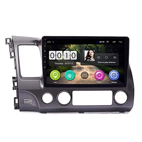 KLL Quad Core 10.1 Pollici Android 10.0 Autoradio per 2006 2011 Honda Civic GPS Navi Multimedia Player Autoradio SWC BT No Dvd 1 DIN(Size:Otto Core,Color:WiFi 4+64G)