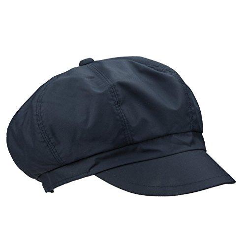LOEVENICH Damen Regenkappe mit Polar Soft Futter - Ballonmütze für Herbst und Winter - Marine