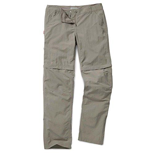 Craghoppers Damen Outdoor-Hose/Zipp-Off-Hose NosiLife Convertible Trousers mit Insektenschutz hanf (143) 44