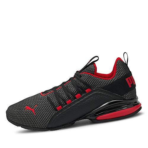 PUMA Herren 194384 Axelion LS Sneaker Low ohne Absatz SOFTFOAM Innensohle Schuhe, Groesse 40, schwarz/rot