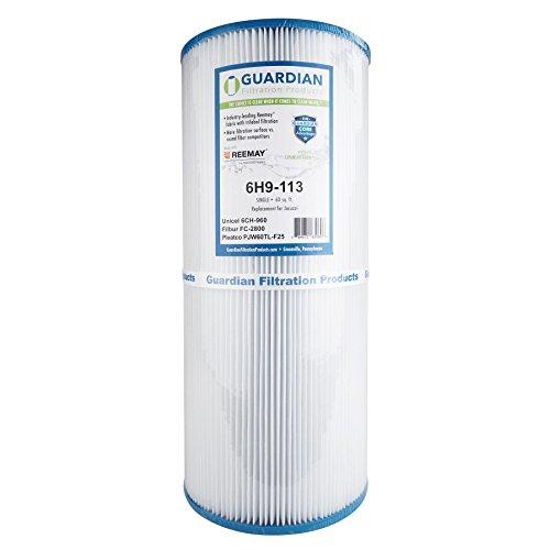 Guardian Pool Spa Filter Cartridge Replaces Unicel 6CH-960, Pleatco PJW60TL-F2S, Filbur FC-2800