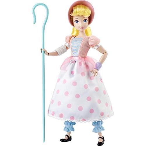 Disney Pixar Toy Story Bo Peep Bambola d'Azione, Bambola Fashion, 3 Outfit e Accessori, per Bambini da 3+ Anni, GDR18