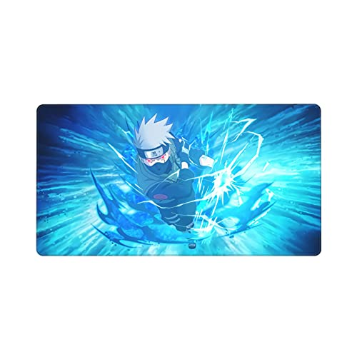 Naruto Shippuden Kakashi Akatsuki Gaming Mouse Pad Office Mouse Pad with Stitched Edge Premium Music Art Print Non-Slip Rubber Base Wireless Mouse Pad for Laptop Mat