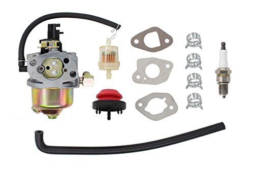 Carburetor Fuel Filter Primer Bulb Spark Plug Carb kit for MTD Troy Bilt Cub Cadet 951-14026A 951-14027A 951-10638A 170-SU 270-SUA 370-SUC Engine Snow Blower Huayi 170S 170SA Craftsman Sears