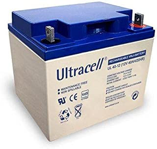 بطارية UL40-12 بجهد عادي 12 فولت بسعة عادية 40 امبير في الساعة كافية 20 ساعة، من التراسيل (المملكة المتحدة) ليمتد