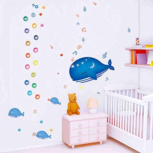 HYYDHD kartonnen doos schattige vis muziek muursticker aftrekfoto's kinderen kinderkamer baby kamer decor muurschildering kunst