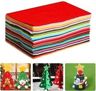Aokebeey Filzstoff 40 Verschiedene farbige Polyester-Filzfolien waschbar Filz Blätter für DIY Handwerk Nähen Projekte 20 x 30 cm