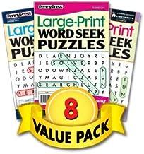 Large Print Word Seek Puzzles-8 Pack