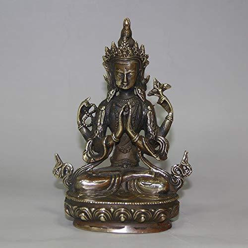 Gpzj Bodhisattva Avalokiteshvara.Seltene, alte tibetische Bronzestatue (Buddha Tibet) Figur/Geschenke/Büro/Ornament/Kunsthandwerk/Wohnaccessoires