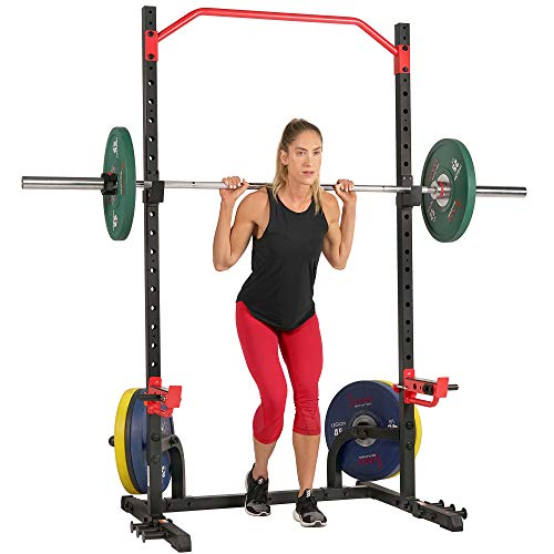 Sunny Health & Fitness Power Zone Squat Stand Rack Power