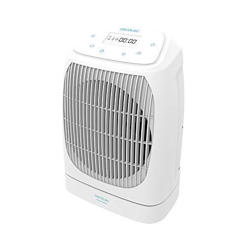 Cecotec Calefactor Eléctrico de Baño Bajo Consumo Ready Warm 9870 Smart Rotate 2000 W, Oscilación, 2 niveles, 3 Modos de Funcionamiento, Silencioso, Pantalla LCD, Sistema de Seguridad, 15m2
