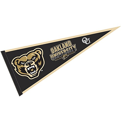 College Flags & Banners Co. Oakland Golden Grizzlies Pennant Full Size Felt