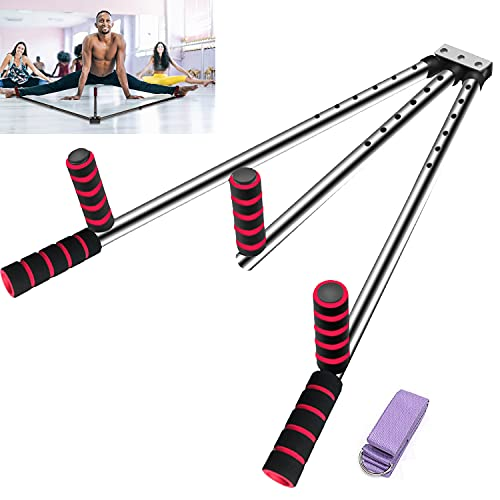 FIGROL Leg Stretcher Leg Split Stretching Machine Stretching Equipment Flexibility for Ballet, Yoga,Dance, MMA, Taekwondo & Gymnastics(Silver)