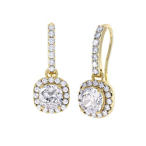 Jian London Princess-Orecchini cielo stellato con strass, colore: argento, 2 ct), Argento sterling, colore: oro, cod. E72736P