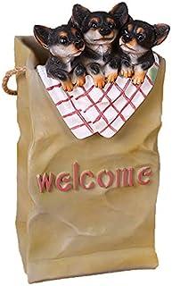 Resin Cartoon Dogs Umbrella Racks,cute Free Standing Umbrella Stand Holder Shelf With Removable Drip Tray Umbrella Contain...