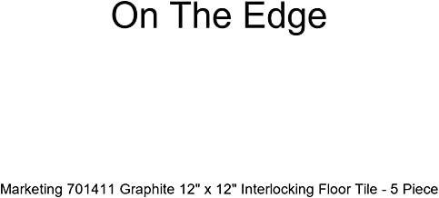 On The Edge Marketing 701407 Graphite 12 x 12 Interlocking Floor Tile 5 Piece