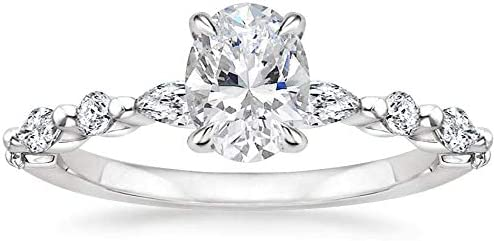 Moissanee Certified 1.50CT White Some reservation online shop Oval Moissanite Cut Diamond Sol