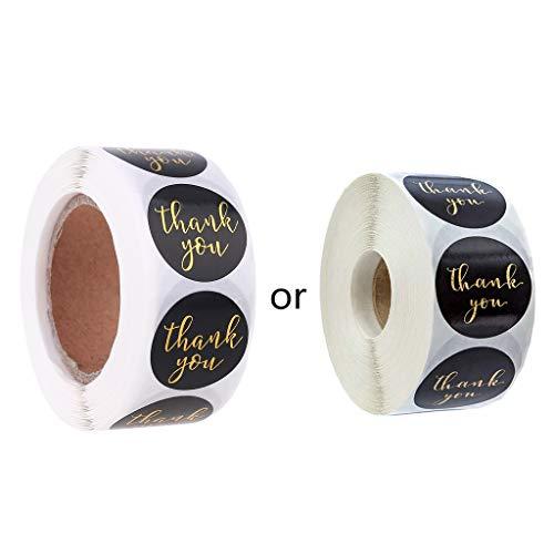 Supefriendly 500 pegatinas redondas de agradecimiento con sello para bodas, fiestas, álbumes de recortes, paquete de pegatinas autoadhesivas de regalo para bricolaje, bolsa de sellado