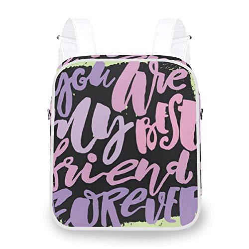 DoubleCW Best Friend Backpack Travel Backpack Diaper Bag Doctor Bag School Backpack for Women&MenDual-purpose Crossbody bag