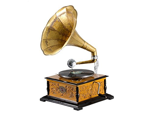 Crespo Decoración Gramáfono con Trompeta G17222