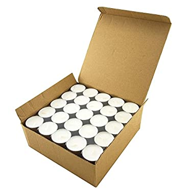 Stonebriar Tea Light Candles 6-7 Hour - Use Floating Candle Centerpiece - 100 Pack