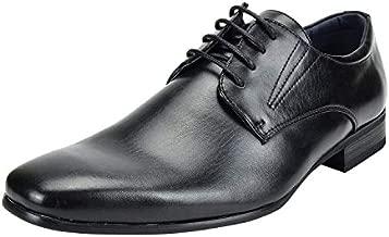 Bruno Marc Men's Gordon-03 Black Classic Modern Formal Oxfords Lace Up Leather Lined Snipe Toe Dress Shoes - 10.5 M US