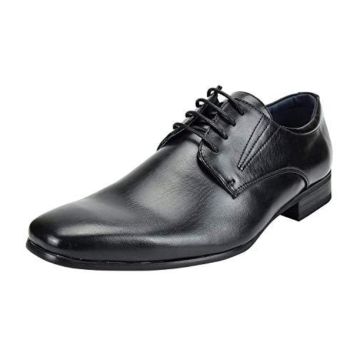 Bruno Marc Men's Gordon-03 Black Leather Lined Snipe Toe Dress Oxfords Shoes – 11 M US