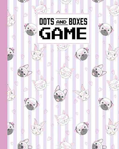 Dots And Boxes Game: Premium Cute Kitty, Dog, Rabbit Cover Dots And Boxes Game, A Classic Strategy Game - Large and Small Playing Squares - Big Book, ... Line, Pigs in a Pen, 120 Pages, size 8