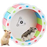 Hamster Running Wheel, Silent Pet Roller Toy Non Slip Hamster Exercise Spinner Cute Small Animal Cage Attachment Accessory for Chinchilla Hedgehog Gerbil Syrian Ferret Mice Guinea Pig