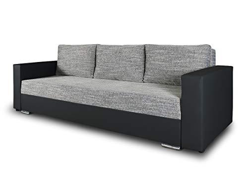 Schlafsofa Bird - Sofa mit Schlaffunktion und Bettkasten, Klappsofa, Schlafcouch mit Chromfüße, Couch,...
