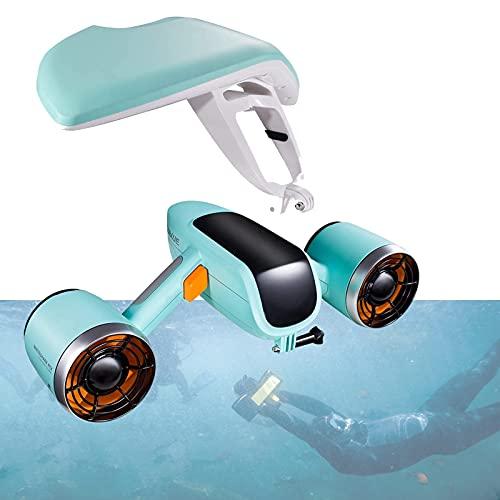 2021 Último Scooter Submarino Con Acción Cámara Montaje Dual Motor 40m Impermeable Recargable Vespa De Mar Eléctrico 1.5 M / S 45min Agua De Drone Submarino, Piscina Buceo Para Niños / Adultos