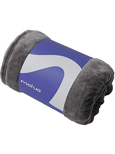 mofua(モフア) 毛布 シングル オールシーズン快適 エアコン対策 マイクロファイバー 洗える 140×200cm グレ...