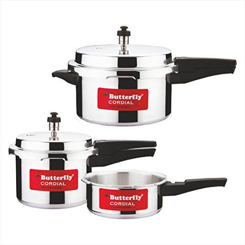 Butterfly Cordial 2 L, 3 L & 5 L Induction Bottom Pressure Cooker