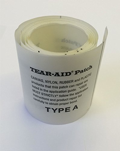 Tear Aid Selbstklebender Reparatur-Flicken Typ A für Zelte, Drachen, Gummiboote, Segel, Stoffe, 75mm x 150mm
