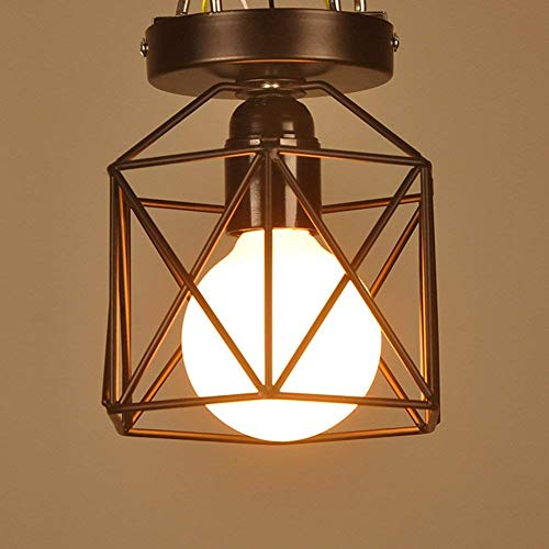 E27 Creative Simple Iron Stand Lampe de Plafond Métallique Holder Industrielle Vintage Style Suspension Light Shade