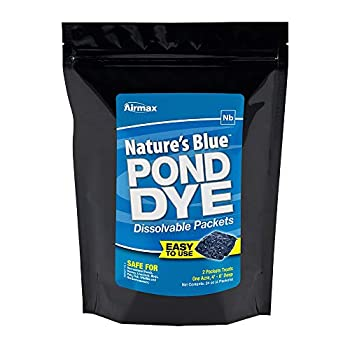 Airmax Nature s Blue Water Soluble Pond Dye Packets  WSP  – Easy No Mess Application for Ponds & Lakes - 4 WSP Pack