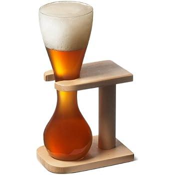 /Lot de 2 Pauwel Kwak Bi/ère belge en verre avec support en bois 0.3L/