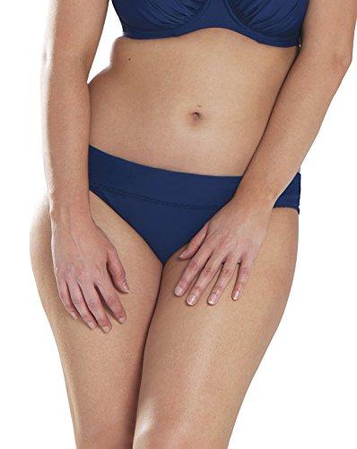 Curvy Kate Azul Traje de baño Braga Jetty Fold Over