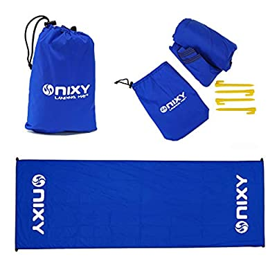 "NIXY Landing Mat Paddle Board Ground Tarp 142"" x 57"", Quick Drying, Durable, Sand and Dirt Resistant, Nylon, Best for Water Gear, Royal Blue"