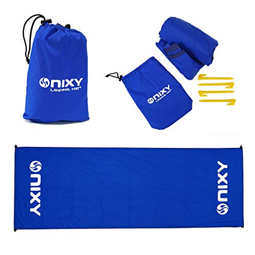 NIXY Landing Mat Paddle Board Ground Tarp 142' x 57', Quick Drying, Durable, Sand and Dirt Resistant, Nylon, Best for Water Gear, Royal Blue