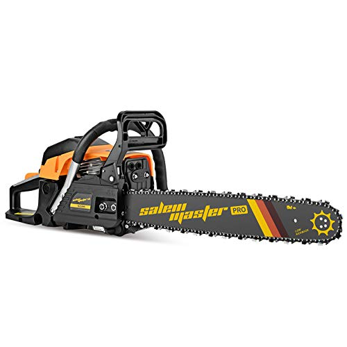 SALEM MASTER 6220H Chainsaw for Trees Gas Powered 62CC 2-Cycle Gas Chainsaw, 20-Inch Chainsaw, Handheld Cordless Petrol Gasoline Chain Saw for Farm, Garden and Ranch
